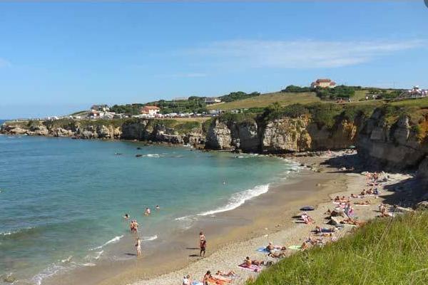 Playas para ir con perros en Asturias - Playa Cervigón en El Rinconín, Gijón
