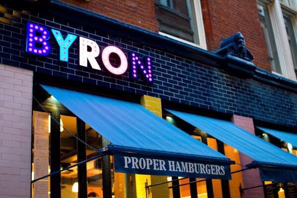 Dónde comer bien y barato en Londres - La hamburguesería Byron de Londres
