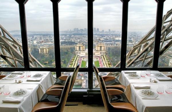 Restaurantes con vista a la torre Eiffel - Le Jules Verne Restaurant
