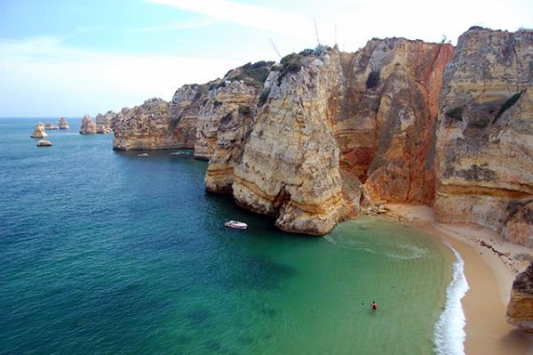 Playas paradisíacas de Portugal - Playa de Doña Ana de Portugal, una de las más bonitas del mundo