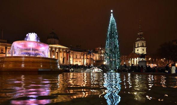 Qué hacer en navidad en Londres - Visitar el árbol de Trafalgar Square